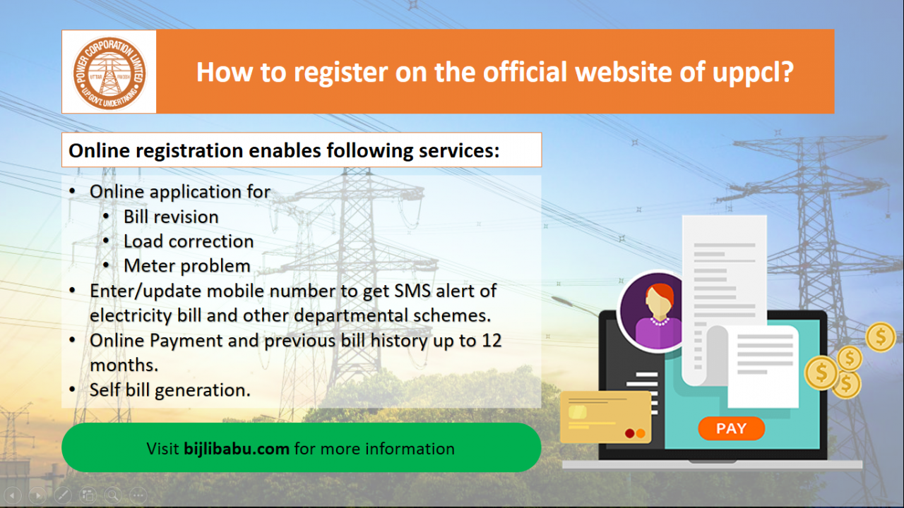 How to register on the official website of uppcl